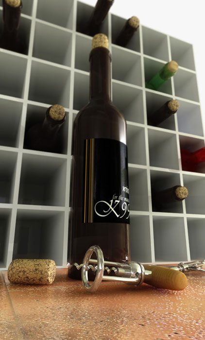 Atelier k99 krembo99 architecture image design for Wine bottle material