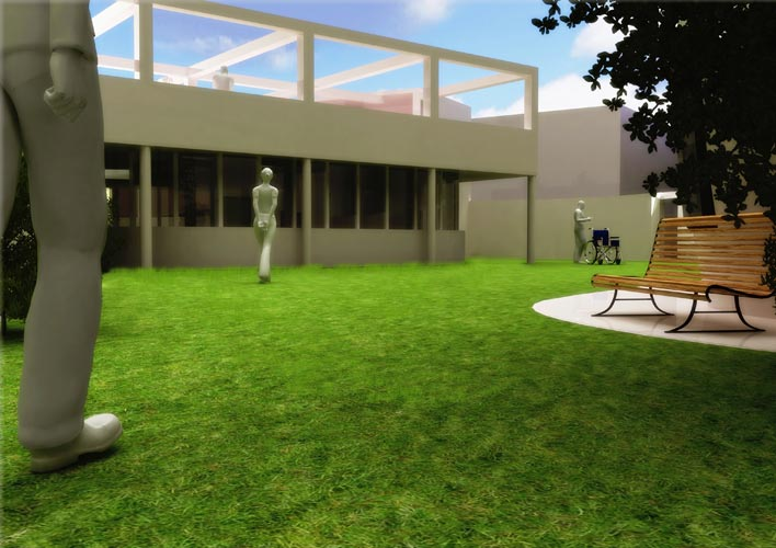 Model like render for an invalid school caravaggio for Design render milano