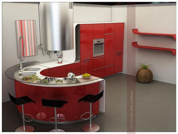 round kitchen island design alluring modern round kitchen